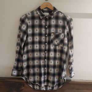 Aztec Rustic Flannel Button Down